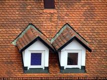 Windows auf Dach Lizenzfreie Stockfotografie