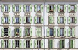 Windows av ett hus Arkivbilder