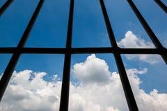 Windows av fängelset Arkivbild