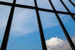 Windows av fängelset Arkivfoton