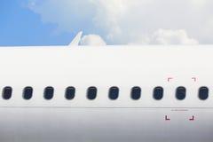 Windows av flygplanet Arkivbilder