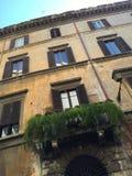 Windows av forntida Rome royaltyfria bilder