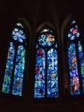 Windows av konstnären Marc Chagall i den Reims domkyrkan arkivfoto