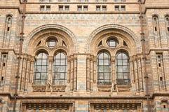 Windows av naturhistoriamuseet Arkivbild