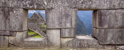 Windows avec une vue Photos stock