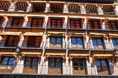 Windows with awnings, Toledo, Spain Royalty Free Stock Photos