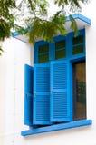 Windows azul Fotografía de archivo libre de regalías