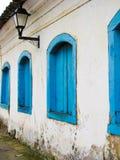 Windows azul Foto de archivo libre de regalías