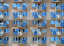 Windows and balconies Royalty Free Stock Image