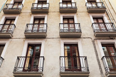 Windows and balconies Stock Photography