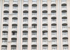 Windows with balconies. Windows of modern house with balconies of a hotel in Jakarta (Java, Indonesia Stock Images