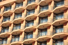 Windows and balconies geometry Stock Images
