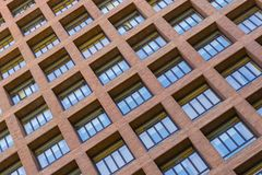 Windows and balconies of the multi-storey building. Background of the windows and balconies of the multi-storey building Stock Image