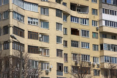 Windows and balconies Stock Image