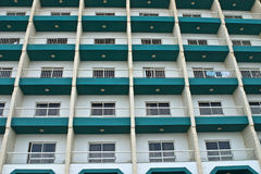 Windows and balconies Stock Images