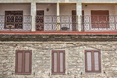 Windows and balconies Royalty Free Stock Photo