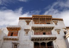 Windows and balcony of ancient leh Palace Royalty Free Stock Images