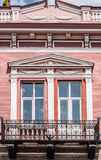 Windows with balcony. Architectural detail Royalty Free Stock Photography