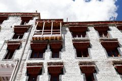 Windows and balcony of Hemis monastery, Leh Stock Photo