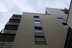 Windows, Balkone, Boden eines Gebäudes Stockfotografie