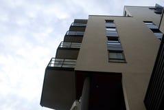 Windows, Balkone, Boden eines Gebäudes Lizenzfreies Stockfoto