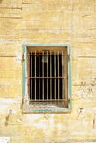 Windows with bars on Hitler bunker in Margival, Aisne, Picardie in the north of France Stock Photos