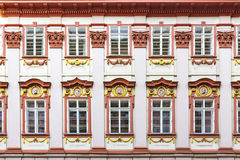 Windows with bas relief Royalty Free Stock Photography