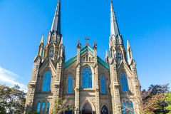 Windows in Beautiful Gothic Church Royalty Free Stock Images