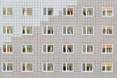 Windows of big building Stock Photography