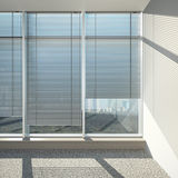 Windows with blinds Royalty Free Stock Photos