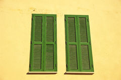 Windows blinds in Majorca Royalty Free Stock Image