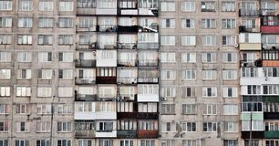 Windows of block of flats royalty free stock photos