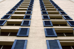 Windows and Blue Shutters Royalty Free Stock Images