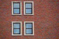 Windows on brick wall Royalty Free Stock Photo