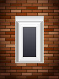 Windows on brick wall Royalty Free Stock Images