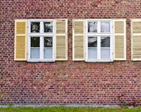Windows in brick wall Royalty Free Stock Images
