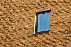 Windows in brick wall Stock Photos