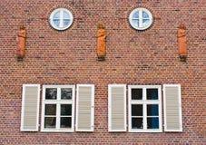 Windows in brick wall Stock Photo