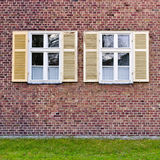Windows in brick wall Royalty Free Stock Image