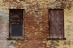 Windows and brick wall. Royalty Free Stock Images