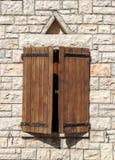 Windows on a brick wall Stock Photo