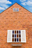 Windows on brick wall Royalty Free Stock Photo