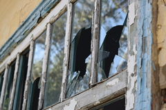 Windows with the broken glasses Royalty Free Stock Images