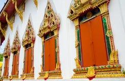 Windows of buddha church Royalty Free Stock Photography