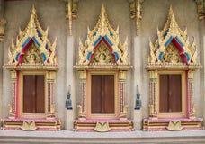 Windows Buddha Hall Zdjęcie Royalty Free