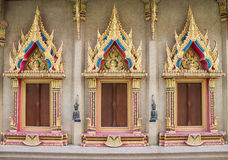 The Windows of Buddha Hall. Wat Siwareenoy Thailand Royalty Free Stock Photo