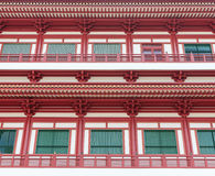 Windows Buddha Tooth Relic Temple in China Town Stock Photography