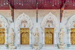 The windows of Buddhist church Stock Photos