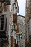 Windows in Budva ,Montenegro Stock Image