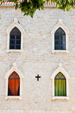 Windows in Budva Old Town, Montenegro Stock Image